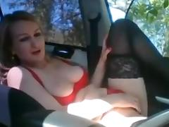 Car, Blonde, Blowjob, Car, Romanian