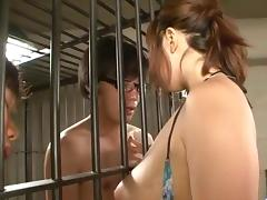 Neiro Suzuka plays with cocks while in prison porn tube video