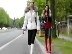 crossdresser on the parking place tube porn video
