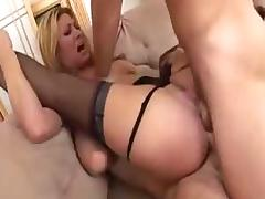 MILF pornstar Tiffany Mynx in a hard double penetration with lots of cumflasking - part 2