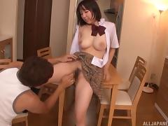 Big Japanese titties bouncing with every thrust of his dick
