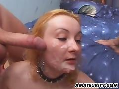 Balling the asshole of a hot blonde slut and nutting on her face porn tube video