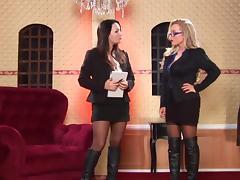 Big Tits, Big Tits, Lesbian, Lingerie, Stockings