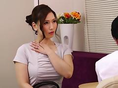 Massaging an Asian beauty and fucking her slippery pussy porn tube video
