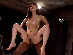 Hottest Japanese model in Amazing JAV censored Hardcore, Hairy scene