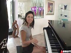 Pretty piano playing girl has great hardcore sex tube porn video