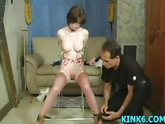 Slave gagged and pussy whipped tube porn video