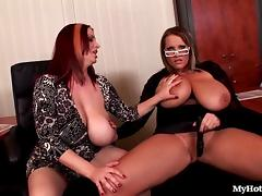 Laura Orsoia and Joanna Bliss have a lot of breaks porn tube video
