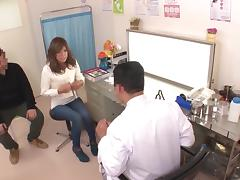 Hidden camera in a Gyno office with a beautiful, HORNY young Japanese girl!