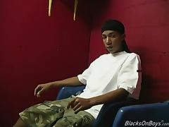Thin twink gets fucked by two black guys porn tube video