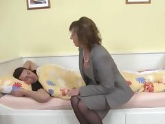 Hot milf and her younger lover 174