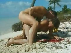 Beach, Anal, Beach, Doggystyle, Stockings