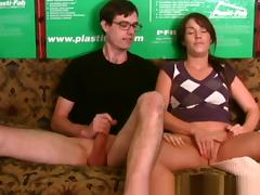 Hottest Amateur clip with Handjob, Masturbation scenes porn tube video