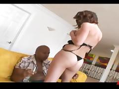 Sexy white bitch loves interracial sex with hung black men porn tube video