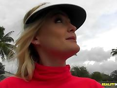 Getting kinky at the tennis court with Kristina Reese
