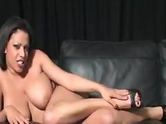 Masturbates and shows feet