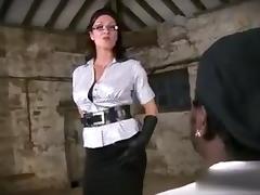 Handjob in leather gloves tube porn video