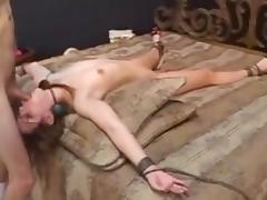 Bound, Amateur, BDSM, Bondage, Bound, Cum in Mouth