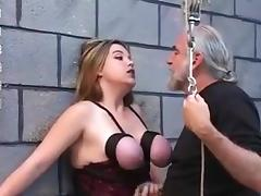 Bound, BDSM, Blonde, Boobs, Bound, Slave