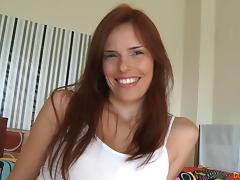 Sexiest redhead ever turns around to see what is doggy all about