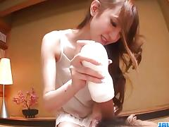 Asian beauty using a flesh light