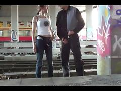 Pegged in Public porn tube video