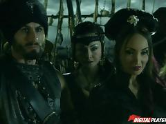 Jesse and Katsuni getting banged hard on the pirate ship porn tube video