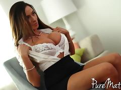 Latina MILF with huge tits needs a hard meaty dick in her asshole