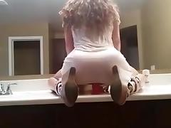 Hot Girl Rides Dildo In Front Of Mirror tube porn video