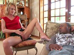 Mom and Boy, Black, Ebony, Fucking, Mature, Old