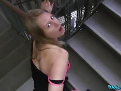 Milana in Nervous Russian accepts cash for sex from stranger - PublicAgent porn tube video