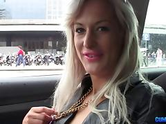 Nice big cock bangs a slut with a belt around her neck