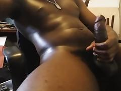 Watch me massage my cock till it explodes