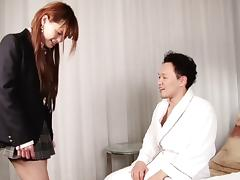 Adorable Asian tranny chick sucking and fucking lustily porn tube video