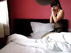 young chinese lover making love in hotel