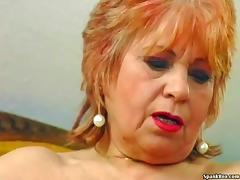 Granny masturbates with a banana porn tube video