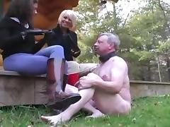 Using slave outdoors porn tube video