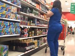 Chubby Pawg Milf in Blue Scrubs tube porn video