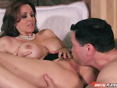 Busty middle-aged babe rides the dick while using all of her skills porn tube video