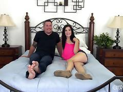 Jenna gets her legs bent open so he can slam that pussy porn tube video