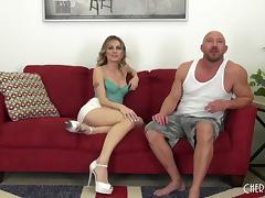 Her mouth gets him hard and her pussy gets him off porn tube video