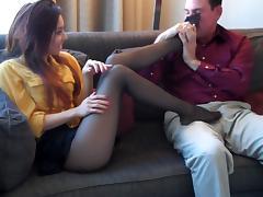 nylon  footjob porn tube video