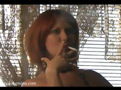 Redhead, Nude, Posing, Redhead, Smoking