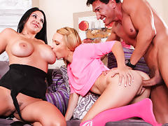 Missy Martinez & Carmen Callaway & Marco Banderas in My Wife And I Are Fucking The Babysitter #07, Scene #03 porn tube video