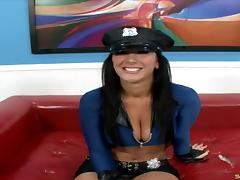 Jayden James is the police woman who really likes the shagging