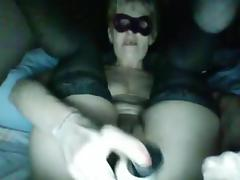 show with anal dildo