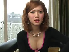 Japanese tgirl cock looks hard and sexy in a hotel room tube porn video