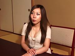 Perky tits and cleavage look hot on a Japanese tranny porn tube video