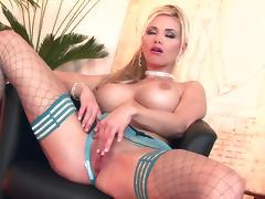 Caylian masturbating wearing blue thigh highs porn tube video