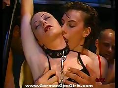 Cum swallowing chicks race to see who can eat the most jizz